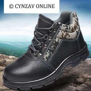 BN Camo Prints Embossed Steel Toe Boots
