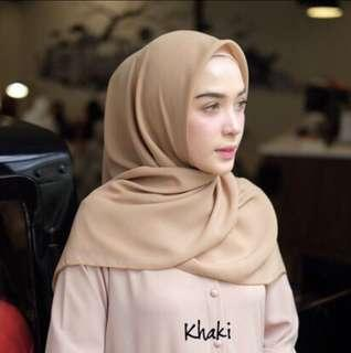 BELLA HIJAB KHAKI READY STOCK