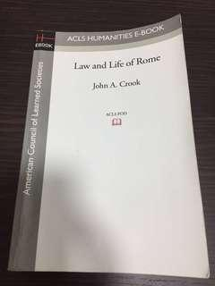 🚚 Law and Life of Rome, John A. Crook