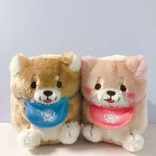 忠犬麻糬粉色公仔