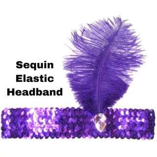 #MMar18 Sequins Elastic Headband for Costume Parties