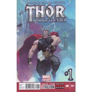 THOR GOD OF THUNDER #1 (2012) 1st Issue! 1st Appearance of Old King Thor