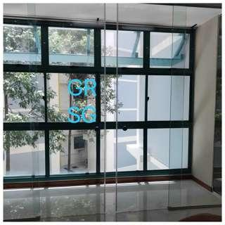 Sliding balcony  Glass panel