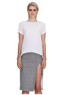 By Johnny striped skirt size 8