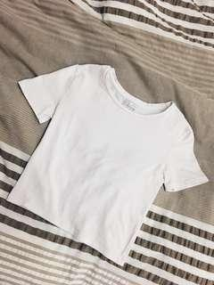 Zara White Crop Top #shero