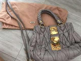 Miu Miu Matelasse leather lilac bag