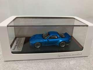 全新未開封 Ignition Model IG 1/64 Rocket Bunny RX-7 (FD3S) Blue Metallic - Tarmac Works Exclusive Color
