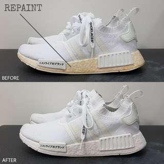 Simple Sneaker Restoration Services (Cleaning, Repainting, Unyellowing)