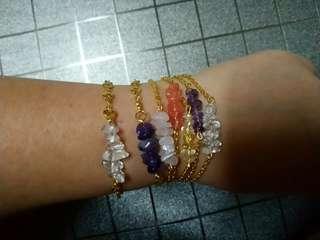 水晶手鏈*手鍊*粉晶紫水晶黃晶西瓜晶白水晶