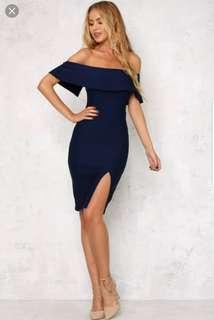 Hello Molly Persian Rug Navy Blue Midi Dress