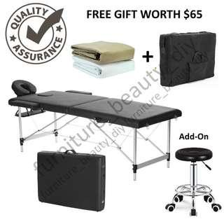 4 In 1 Portable Massage Bed with Armrest and Headrest