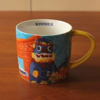 Starbucks星巴克 2015 臺灣金門城市馬克杯 微笑風獅爺 快樂風獅爺14oz KINMEN