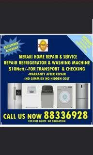 $10nett trp+checking Repair refrigerator washing machine