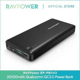 Ravpower QC3 20100mAH powerbank