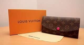 Louis Vuitton Emilie Wallet Fuschia