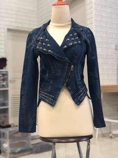 Jaket Jeans denim skulls tengkorak
