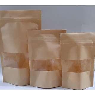 Ziplock window paper goodies bag