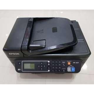 Used Epson WorkForce WF-2631 Inkjet Printer (3x New Ink)
