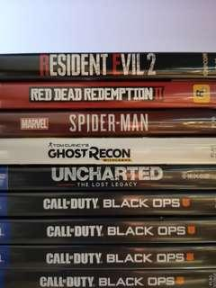 Ps4 Games Used (Price Fixed)