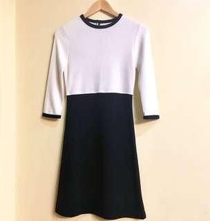 Minimalist Stretch Duo Block Dress