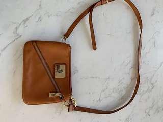 US Polo $120 Association leather neon satchel cross body bag
