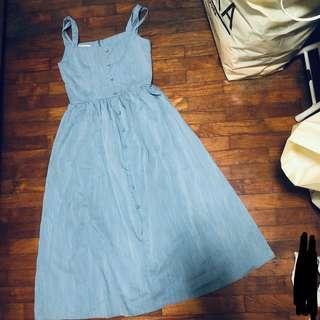 🚚 BLUE BUTTON DOWN DRESS