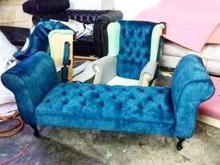 Bench chair chesterfield