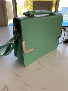 $100 mint satchel hand bag cross shoulder