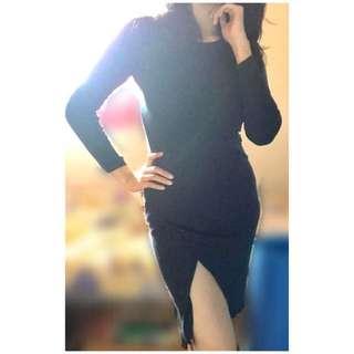 Dark Blue Bodycon Dress #MMAR18