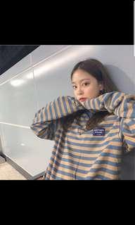 🚚 [PO] korean uzzlang harajuku long sleeved striped t-shirt