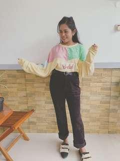 Rainbow oversize sweater