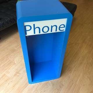 RETRO STYLE CUSTOMISED PHONE BOOTH (shelf)