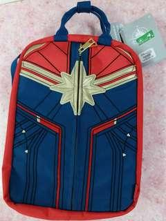 香港迪士尼 hkdl captain marvel 雙面袋(背包&手提圖)