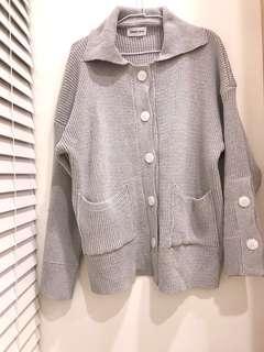 🚚 降價✂️全新🎉灰色文青風寬鬆版型針織外套#我單身我驕傲