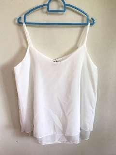 Chiffon sleeveless blouse - double layer (BRAND NEW) #MMAR18