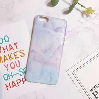 🚚 iPhone 6/6s 手機殼 -大理石紫藍