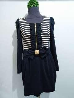 Zip Front Casual Dress