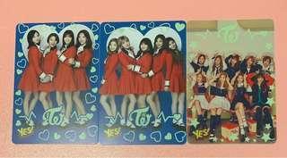 Twice yes card 專輯 夜光 一套3張