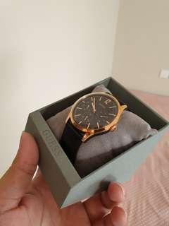 Jam Tangan Pria Guess W1041G3 Leather Strap