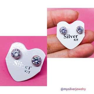 Silver 925 lapis emas anting giwang diamond A