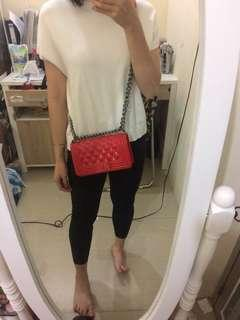 Chanel Red Slingbag
