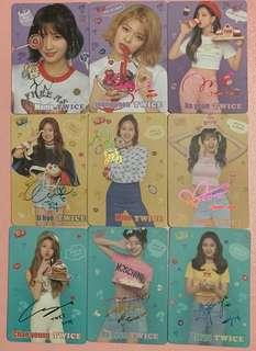 Twice yes card 彩簽 一套9張