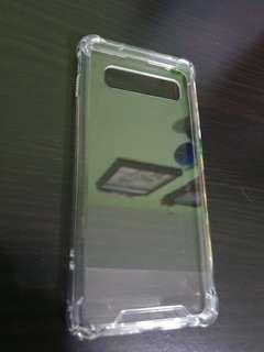🚚 Transparent Samsung S10 Shockproof Case