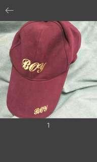 🚚 金色刺繡 葡萄紫紅老帽