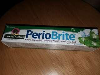 [ 無氟化物 ] 全新美國 Nature's Answer, Periobrite 清涼薄荷天然牙膏(4oz)