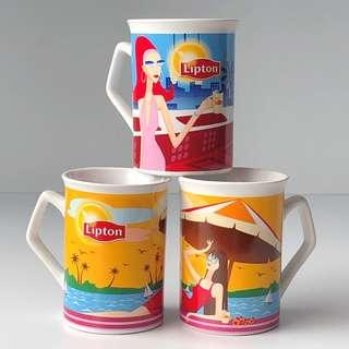 Lipton Mug Cup Porcelain Ceramic Drinking Coffee Tea Cup Mug