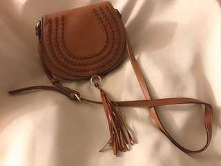 棕色日韓時尚斜咩袋