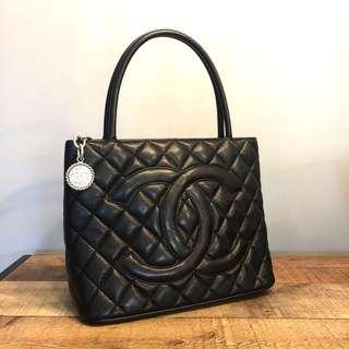 RESERVED Authentic Chanel Caviar Medallion Tote w Silver Hardware