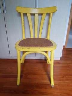 🚚 Happy yellow Study chair / piano chair or dining chair