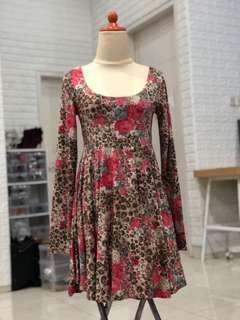 Mididress mini dress leopard